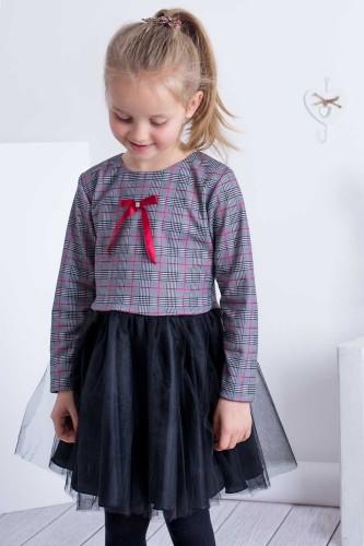 858c390ce6 Sukienka Dziewczęca W kratkę Z Tiulem E-Sklep Olek i Lenka ...