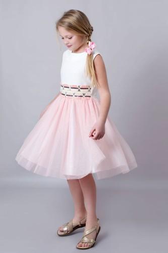 4d4a44aac6 Wizytowa Sukienka Z Różowym Tiulem E-Sklep Olek i Lenka