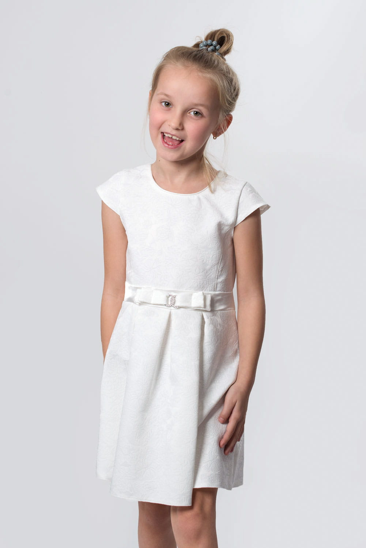 Wizytowa Sukienka Dla Dziewczynki Ecru