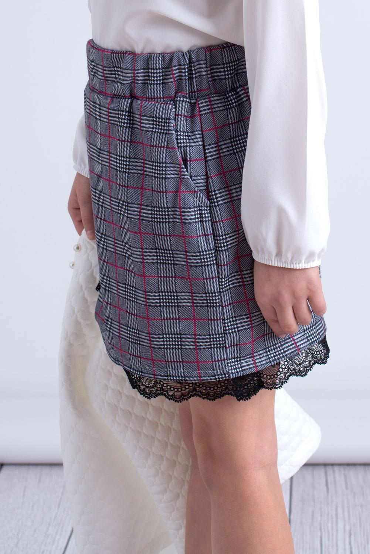 89a04247 Spódnica Dziewczęca W Różową Kratkę