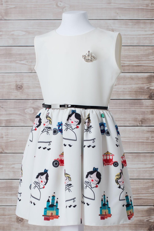 c205a41322 ... sukienka-wizytowa-komunijna-dziewczeca-ecru-z-kolorowym-wzorem- ...