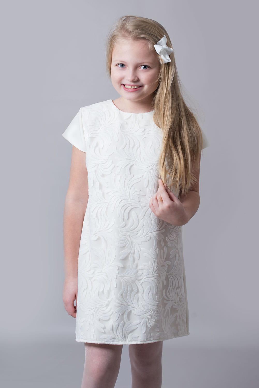 Sukienka Dla Dziewczynki Ecru
